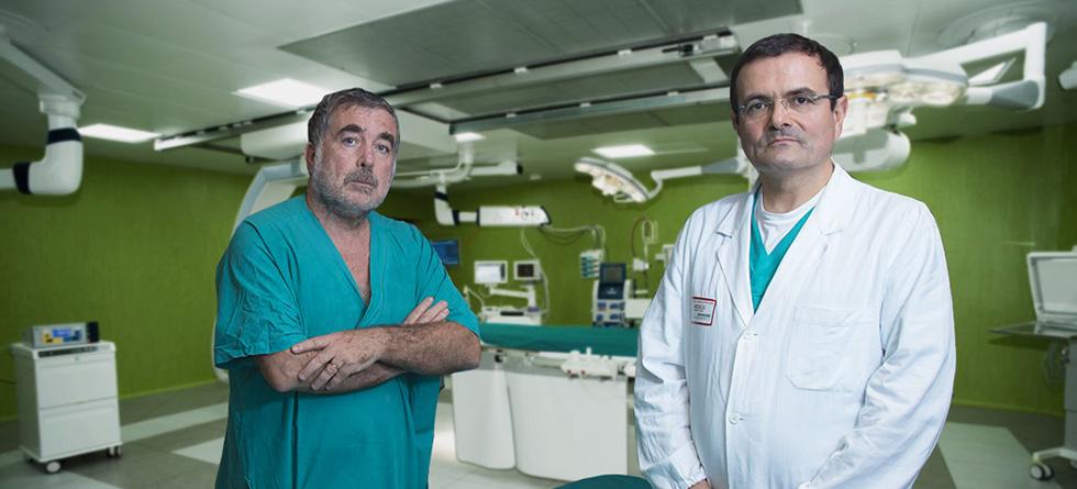Dottori Pieri e Agresti in sala operatoria
