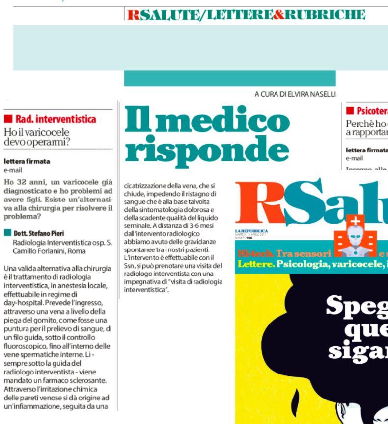 rubrica repubblica radiologia interventistica