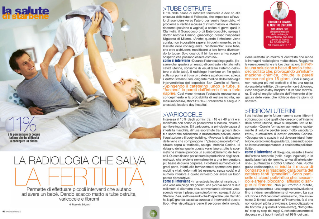 starbene magazine radiologia interventistica fibroma uterino